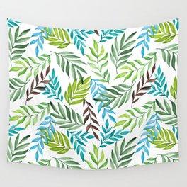 Leaf pattern. Watercolor art Wall Tapestry