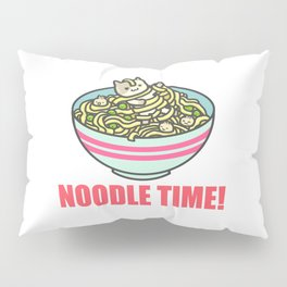 I Love Noodle Kawaii Artwork Pillow Sham