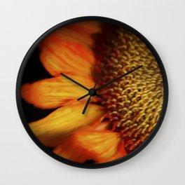Flaming Sunflower Wall Clock