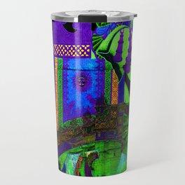 Colorful Elephant Art Travel Mug