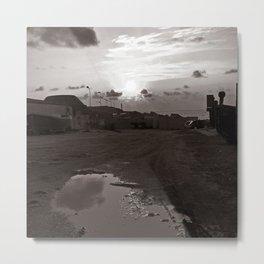 "Old Port of Bonagio in Sicily - ""Vacancy"" zine Metal Print"