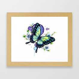 Radiant Flax Framed Art Print