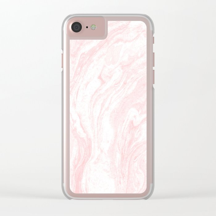Cute Pink Marble Texture Clear iPhone Case by fbmovercrafts  418eb1e88