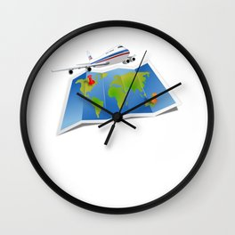 Vacation Lets Go Travel Love to Travel Traveler Gift Wall Clock