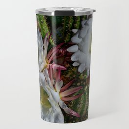 White Argentine_Giant_Cacti in Bloom Travel Mug