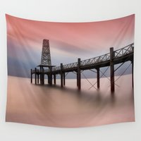 wooden Wall Tapestries featuring  Wooden Pier by davehare
