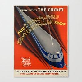 Vintage poster - The Comet Canvas Print