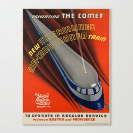 Vintage poster - The Comet Canvas Print
