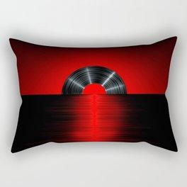 Vinyl sunset red Rectangular Pillow