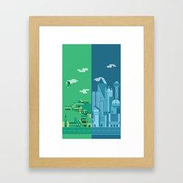 Foreign Cities Framed Art Print
