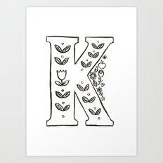 k is for Art Print