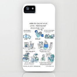 Support Your Independent Bookstore iPhone Case