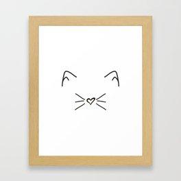 Cute Cat #society6 #decor #buyart #artprint Framed Art Print