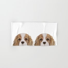 Cavalier King Charles Spaniel Dog illustration original painting print Hand & Bath Towel