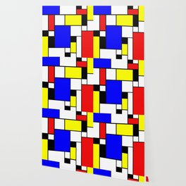 Colored Squares Art Wallpaper