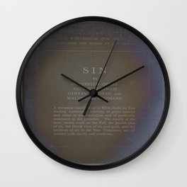 Sin Wall Clock