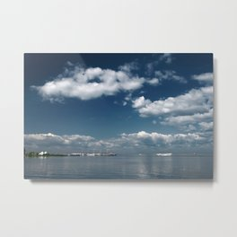 Beautiful blue sky over the Gulf of Finland Metal Print