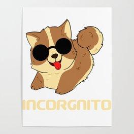 Dog Doglover Corgi dog cute pet funny gift fluffy birthday Poster