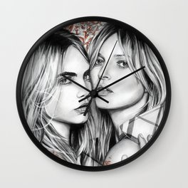 Kate and Cara Wall Clock