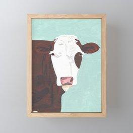 A Heifer Named Tribal Framed Mini Art Print