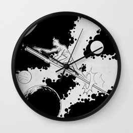 Sky rider of the spaceways Wall Clock