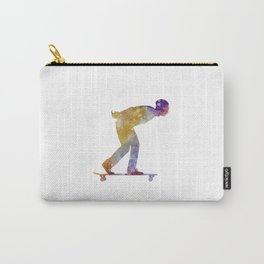 Man skateboard 03 in watercolor Carry-All Pouch