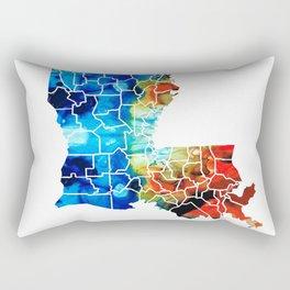 Louisiana Map - State Maps By Sharon Cummings Rectangular Pillow