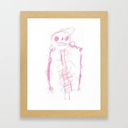 Skeleton with a Hat Framed Art Print