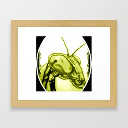 MANTIS 01 Yellow Framed Art Print