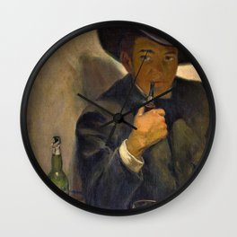 Self-portrait With Broad-brimmed Hat - Diego Rivera Wall Clock