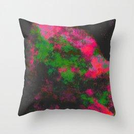 """Cellular Migration"" (Fuchsia/Green) Digital Painting // Fine Art Print Throw Pillow"