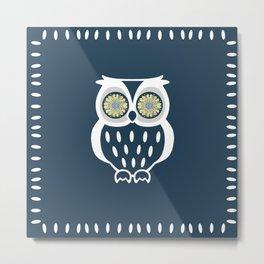 Bright Eyed Owl Metal Print