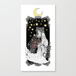 The Rabbits in the Moon Canvas Print