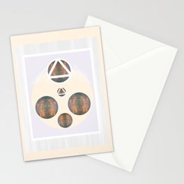 Monkey Head: Circle & Triangle Stationery Cards