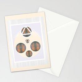 Monkey Head: Circle & Triangle Stationery Cards