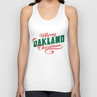 oakland Tank Tops featuring Merry Oakland Christmas by Keeley Marie McSherry