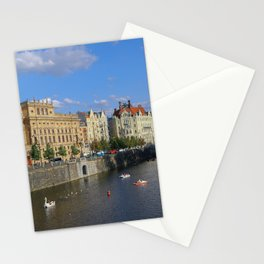 Sunny Day in Prague - View from Legion Bridge Stationery Cards