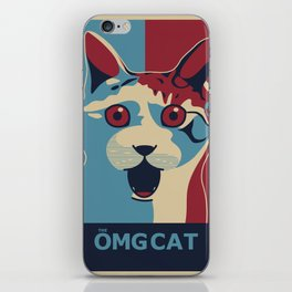 ✩ The OMG Cat Poster iPhone Skin