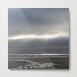 Thunderstorm Clouds Over Oregon Coast Metal Print