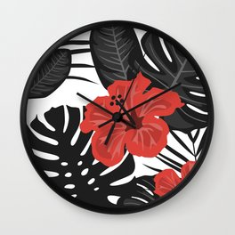 Tropical Art Wall Clock