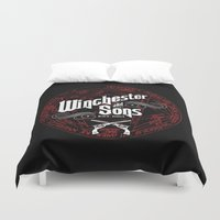 winchester Duvet Covers featuring Winchester & Sons by Manny Peters Art & Design