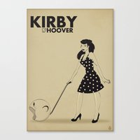 kirby Canvas Prints featuring Kirby Hoover by Lily's Factory