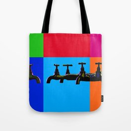 Industrial inspiration for a colorful tap design Tote Bag