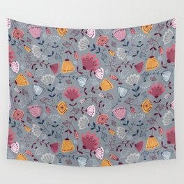 mid century flowers Wall Tapestry