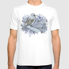 Blue bird White Mens Fitted Tee SMALL