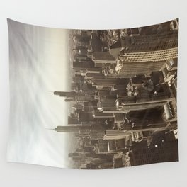 Chicago Buildings Sears Tower Sky Sun Color Photo Wall Tapestry