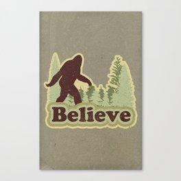 Bigfoot Believe Canvas Print