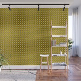 Geometric pattern with interlaced circles in gold Wall Mural