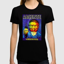 Absente (Absinthe) Van Gogh Parody Vintage Poster, tshirts, tees, jersey, posters, tshirts, Prints, T-shirt