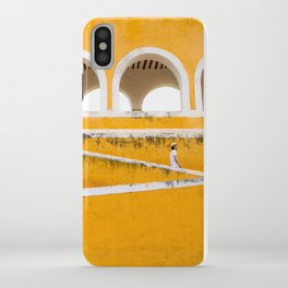 Colonial Mexico, Izamal in Yellow #buyart #society6 #decor iPhone Case